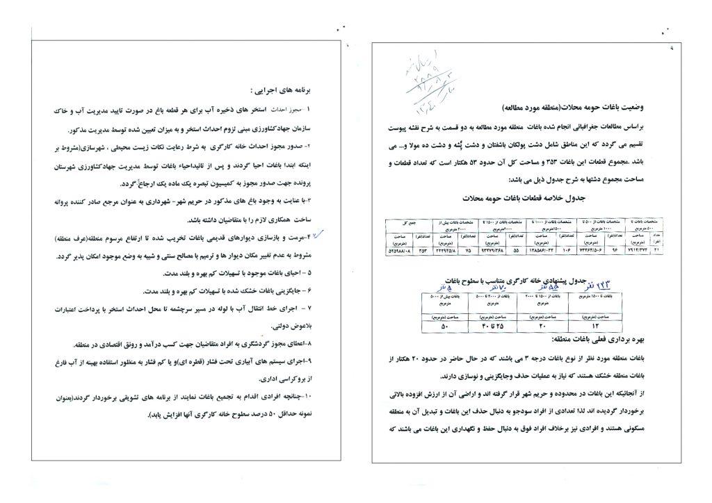 نتیجه پیگیری دکتر سلیمی و اخذ دستور ویژه وزیر جهاد کشاورزی برای احیاء باغات محلات